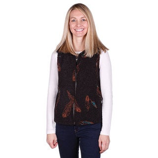 Mazmania Looped Wool Feathers Vest