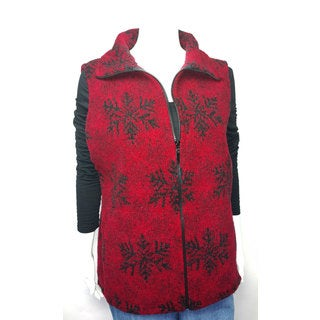 Mazmania Looped Wool Snowflake Vest