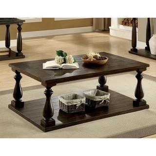Besser Plank Dark Walnut Open Shelf Coffee Table by FOA