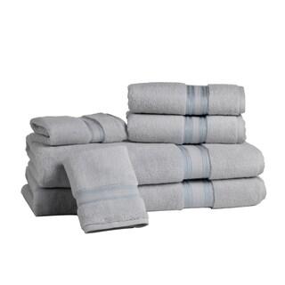 Lezeth Collection-Super Absorb 100% Cotton Zero-Twist 6-piece Towel Set