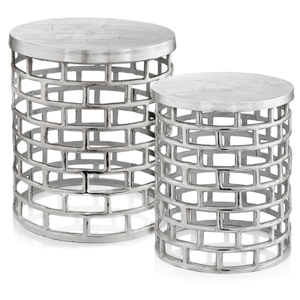 Shop Ladrillo Silver Accent Tables Set Of 2 Free