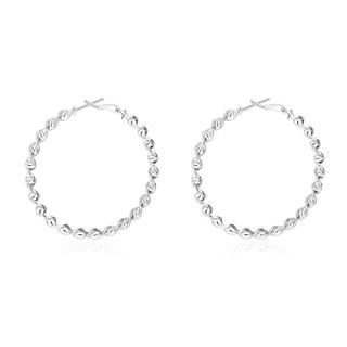 Hakbaho Jewelry Sterling Silver Curved Wired Hoops