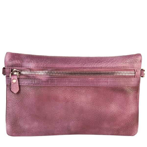 Diophy Vintage-Dye Fashion Leather Convertible Clutch