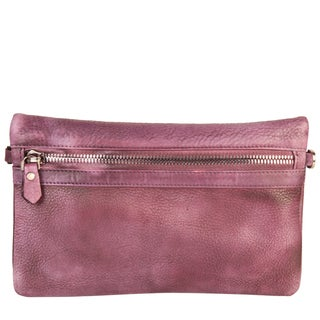 Diophy Vintage-Dye Fashion Leather Convertible Clutch