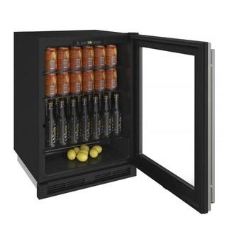 U-Line 24-inch Reversible Hinge Integrated Frame 115v Glass Door Refrigerator
