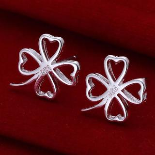 Sterling Silver Hollow Laser Cut Stud Earring