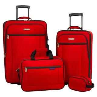 American Explorer Hudson 4-piece Rolling Luggage Set