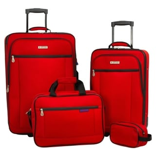 American Explorer Standard 4-piece Rolling Luggage Set