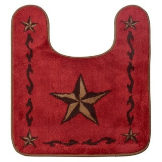 HiEnd Accents Contour Star Red Bath Rug