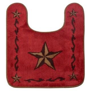 HiEnd Accents Contour Star Red Bath Rug