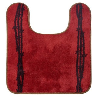 HiEnd Accents Blue/Red Acrylic U-shaped Barbwire Contour Rug