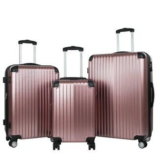 AGT Melrose 3-piece TSA Lock Hardside Expandable Spinner Luggage Set