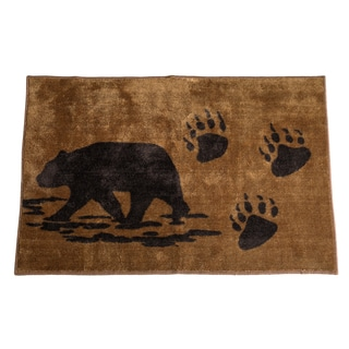 HiEnd Accents Bear Print Bath Rug