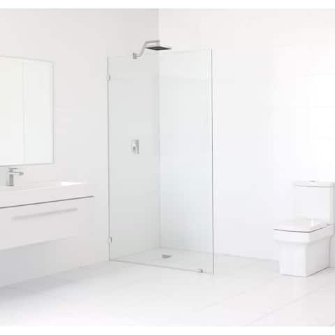 Glass Warehouse 78 x 44 Frameless Shower Single Fixed Panel
