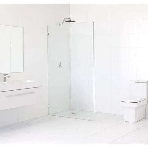 Glass Warehouse 78-inch x 36.5-inch Frameless Shower Single Fixed Panel