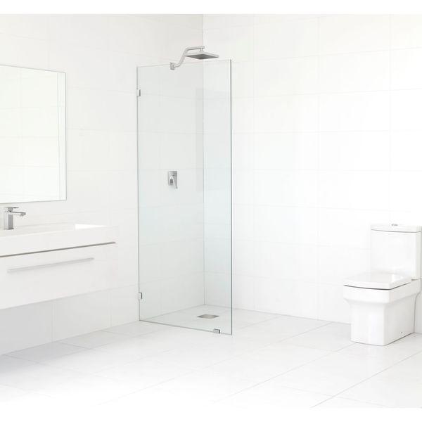 Glass Warehouse 78-inch x 32.5-inch Frameless Shower Single Fixed Panel