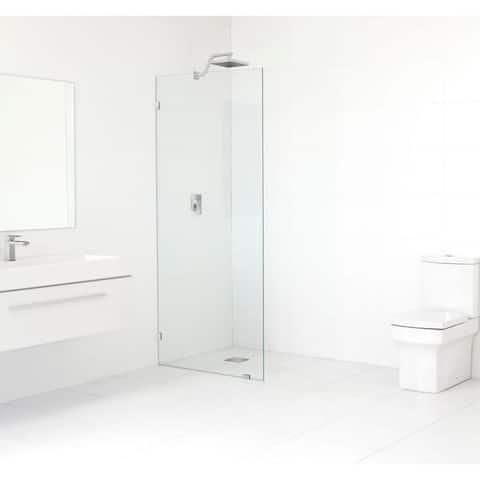Glass Warehouse 78-inch x 32-inch Frameless Shower Single Fixed Panel