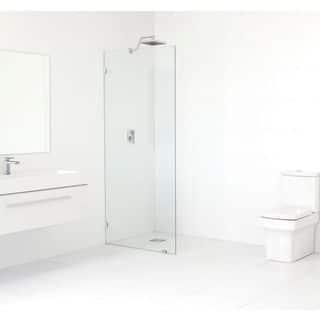 Glass Warehouse 78-inch x 30.5-inch Frameless Shower Single Fixed Panel