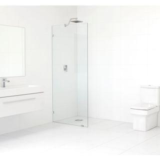 Glass Warehouse 78-inch x 28-inch Frameless Shower Single Fixed Panel
