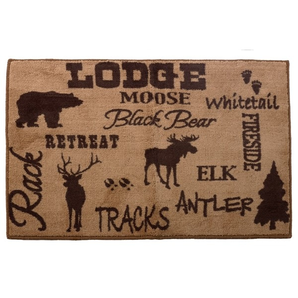 HiEnd Accents Lodge Multicolored Acrylic Bath Rug - Free Shipping On ...