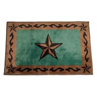 HiEnd Accents Star Print Bath Rug