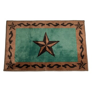 HiEnd Accents Star Print Bath Rug 24 x 36