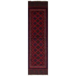 ecarpetgallery Hand-Knotted Tajik Caucasian Red Wool Rug (2'2 x 8'11)