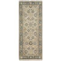 ecarpetgallery Hand-Knotted Royal Ushak Ivory Wool Rug (2'6 x 6'1)