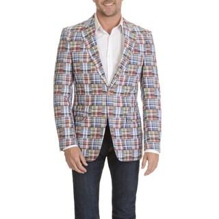 U.S. Polo Assn. Men's Madras Plaid 2 Button Sports Coat