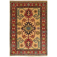 ecarpetgallery Hand-Knotted Finest Gazni Ivory Wool Rug (3'2 x 4'11)