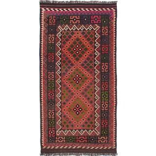 ecarpetgallery Flatweave Qashqai Brown Wool Kilim (3'4 x 6'3)