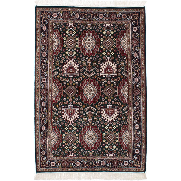 Shop Ecarpetgallery Hand Knotted Persian Kashan Red Wool: Shop Ecarpetgallery Hand-Knotted Royal Kashan Green, Red