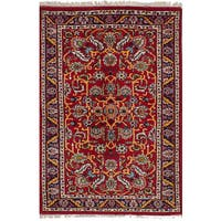 ecarpetgallery Hand-Knotted Royal Sarough Red Wool Rug (3'11 x 6'3)