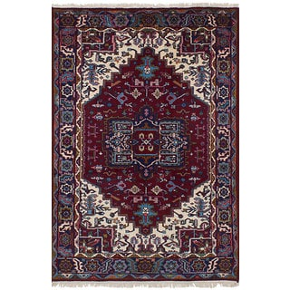 Hand-knotted Bijar Red Wool Rug - 4'0 x 6'4