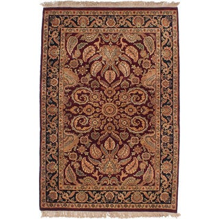 ecarpetgallery Hand-Knotted Sultanabad Red Wool Rug (4'1 x 6'1)