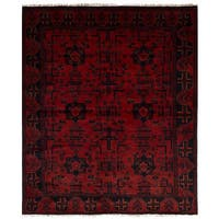 ecarpetgallery Hand-Knotted Finest Khal Mohammadi Red Wool Rug (4'10 x 6'1)
