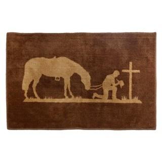 HiEnd Accents Praying Cowboy Bath Rug 24 X 36