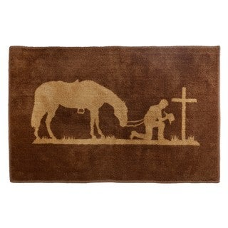 HiEnd Accents Praying Cowboy Bath Rug 24 X 36