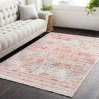 The Curated Nomad Silliman Vintage Persian Traditional Red Area Rug - 3'11 x 5'7