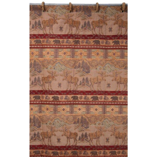 HiEnd Accents Moose Shower Curtain