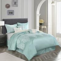 Marsha 7 Piece Jacquard Comforter Set