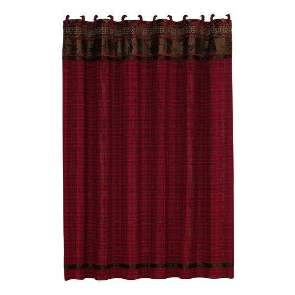 HiEnd Accents Cascade Lodge Shower Curtain