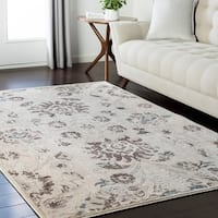 "Weathered Persian Neutral Area Rug - 5'3"" x 7'3"""