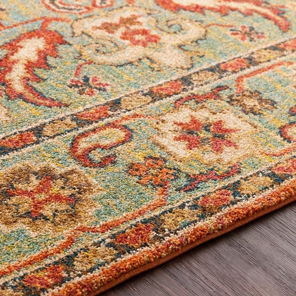 Shop Hillary Southwestern Orange & Green Area Rug   3'11