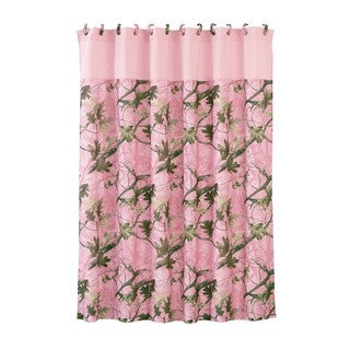 HiEnd Accents Pink Oak Camo Shower Curtain