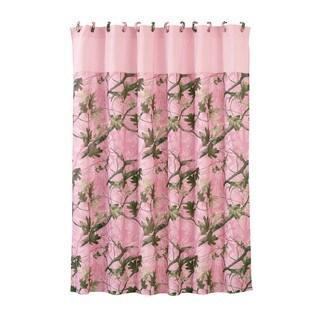 HiEnd Accents Pink Oak Camo Shower Curtain