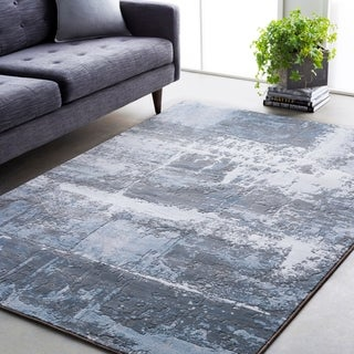 Abstract Modern Contemporary Grey (5'3 x 7'6)