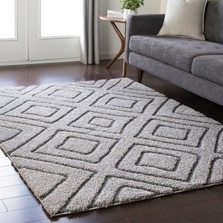 Soft Geometric Shag Grey (5'3 x 7'3)