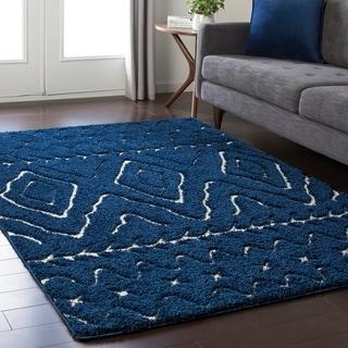 Soft Boho Shag Blue (5'3 x 7'3)