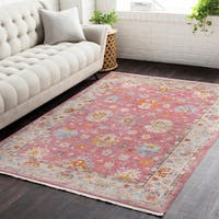 """Gracewood Hollow Zane Vintage Persian Traditional Red Area Rug - 5' x 7'9"""""""